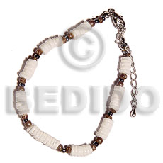 4-5mm white clam heishe Shell Bracelets