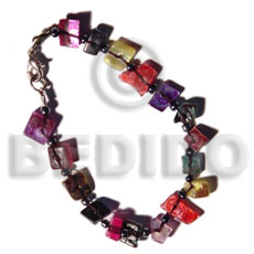 Floating multicolored hammershell Shell Bracelets
