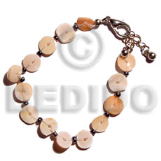 Floating melo heishe Shell Bracelets