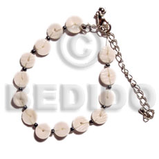 Floating white clam heishe Shell Bracelets