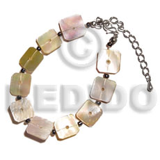 Floating mop squares Shell Bracelets