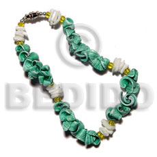 Everlasting in green tone Shell Bracelets
