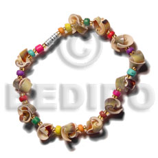 Green everlasting luhuanus multicolored Shell Bracelets