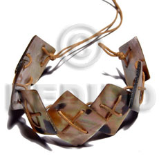 7 pcs. 20mmx20mm brownlip tiger Shell Bracelets