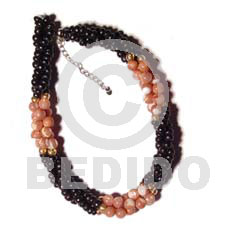 Twisted black coco pokalet Shell Bracelets