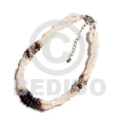 hand made Twisted troca rice bead Shell Bracelets