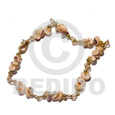 hand made Popcorn luhuanus in gold chain Shell Bracelets