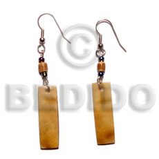 Dangling 30mmx10mm brownlip tiger Shell Earrings