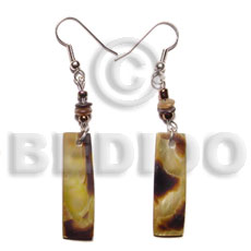 duplicate 5030er dangling 30x10mm brownlip Shell Earrings