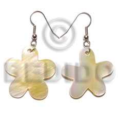 Dangling 30mm mop flower earrings Shell Earrings