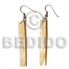 Dangling 50x7mm mop bar Shell Earrings