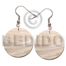 30mm round kabibe shell Shell Earrings