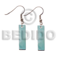 40mmx10mm blue kabibe bar Shell Earrings