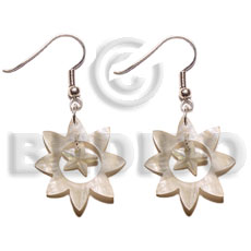 Dangling 40mm sun hammershell Shell Earrings