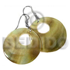 Round goldlip donut earrings 40mm Shell Earrings