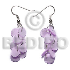 Dangling multiple lilac round 8mm