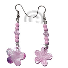 Dangling 20mm pastel pink hammershell Shell Earrings