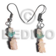 Dangling crazy cut shell Shell Earrings
