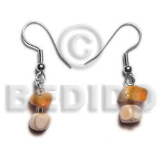 Dangling corals luhuanus mosaci Shell Earrings