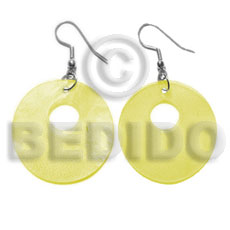 Dangling 35mm yellow hammershell Shell Earrings