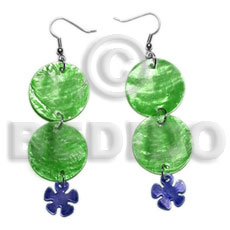 Dangling Double Round 25mm Green