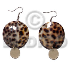 Dangling round 35mm cowrie shell Shell Earrings