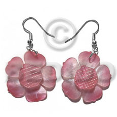 Dangling graduated old rose 30mm Shell Earrings