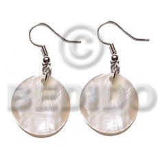 Dangling 20mmx20mm round hammershell Shell Earrings