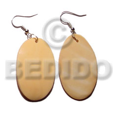 Dangling 35mmx30mm oval melo shell Shell Earrings