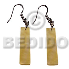 Dangling 45mmx10mm mop flat bars Shell Earrings
