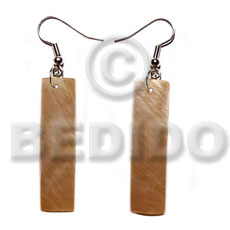 hand made Dangling 45mmx10mm brownlip flat bars Shell Earrings