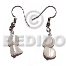 Dangling troca nuggets Shell Earrings