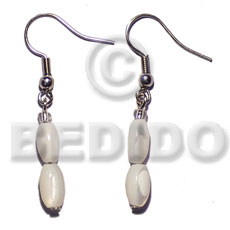 Dangling troca oval Shell Earrings