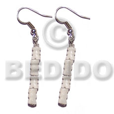 Dangling troca baluster Shell Earrings