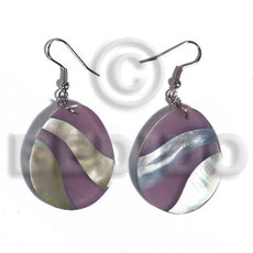 Dangling 35mmx42mm teardrop mop Shell Earrings