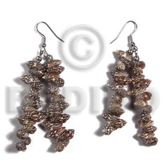 Dangling nassa tiger shells Shell Earrings