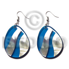 hand made Dangling 35mmx27mm teardrop mop Shell Earrings