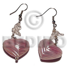 Dangling 20mm rouunded back to Shell Earrings