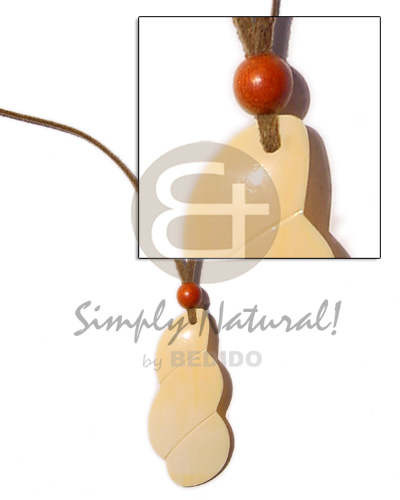 Leather thong h= 45mm Shell Necklace