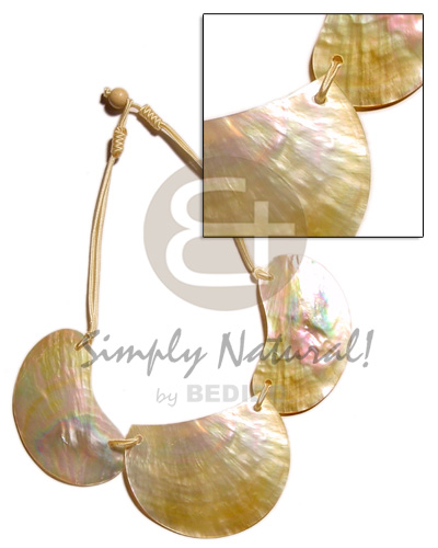 3 pc. 60mm mop Shell Necklace