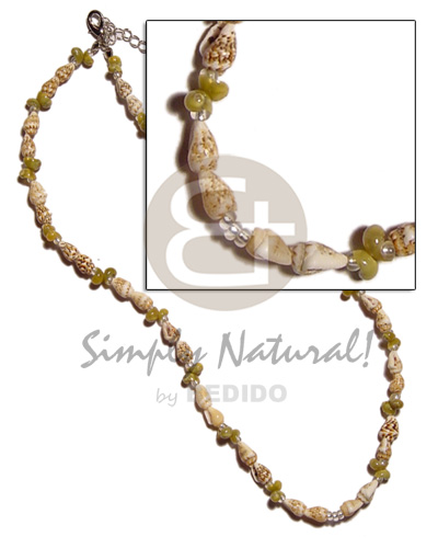 Nassa tiger green mongo Shell Necklace