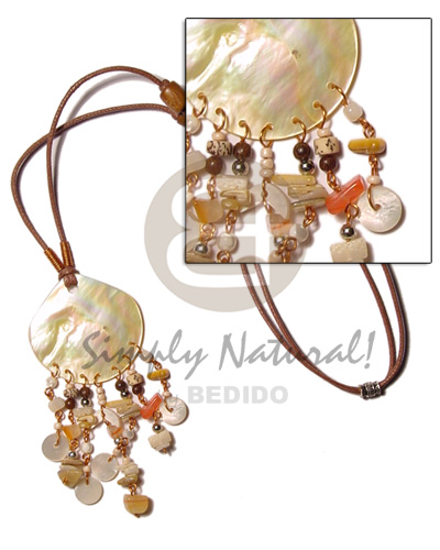 45mm mop dangling Shell Necklace