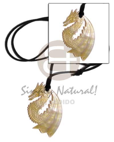 55mm carved dragon mop in Shell Necklace