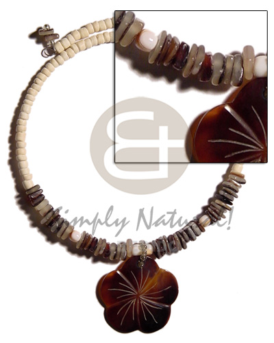 4-5mm bleach coco pokalet. choker Shell Necklace