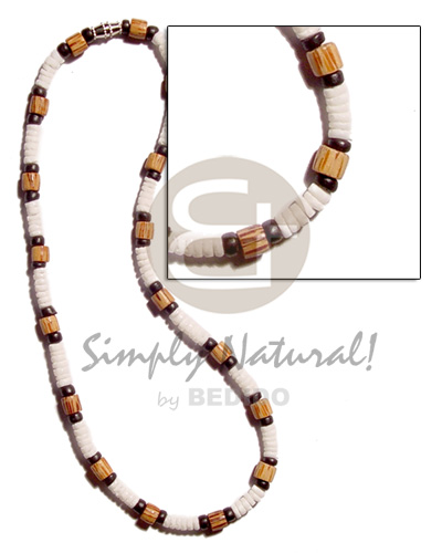 4-5mm white clam heishe Shell Necklace