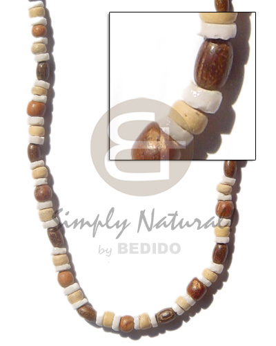 4-5mm heishe white clam Shell Necklace