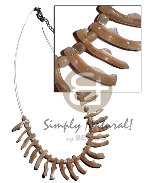 Troca tusk nude on magic Shell Necklace