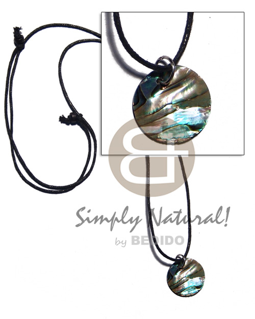 25mm paua abalone on adjustable Shell Necklace
