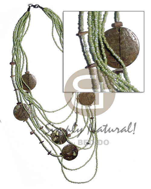 5 rows graduated multilayered Shell Necklace