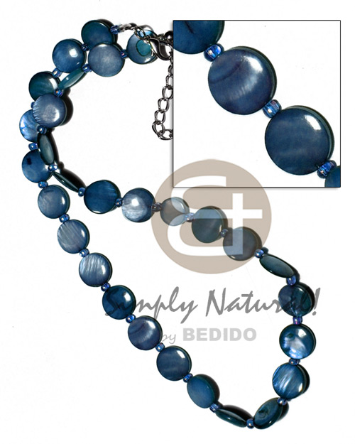 Laminated 10mm round kabibe shells Shell Necklace